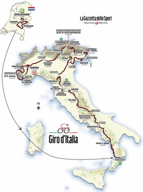 Le 99 ème Tour d'Italie débute, aujourd'hui !...