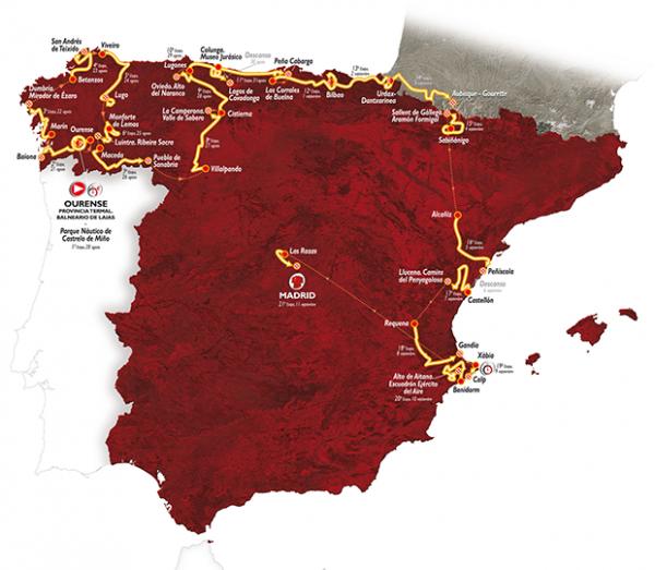 Le 71 ème Tour d'Espagne part, aujourd'hui !...