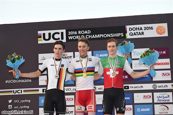 Jakob Egholm, Champion du Monde de Cyclisme sur Route, chez les Juniors Hommes, à Doha, au Qatar !...