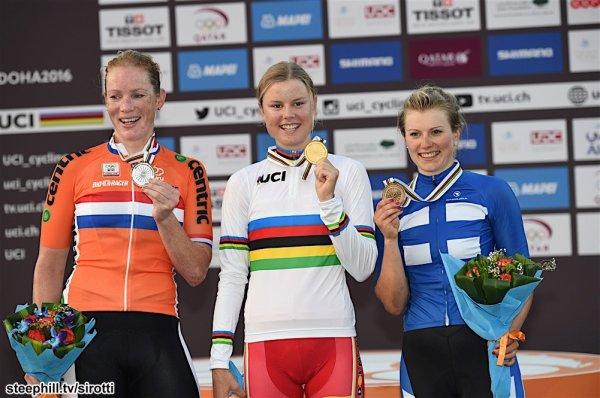 Amalie Dideriksen, Championne du Monde de Cyclisme sur Route, chez les Elites Dames, à Doha, au Qatar !...