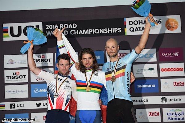 Peter Sagan, Champion du Monde de Cyclisme sur Route, chez les Elites Hommes, à Doha, au Qatar !...