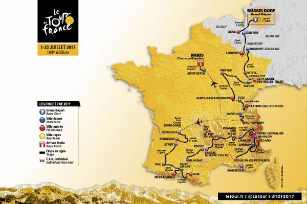 Le 104 ème Tour de France a été dévoilé le mardi 18 octobre 2016, au Palais des Congrès, à Paris !...