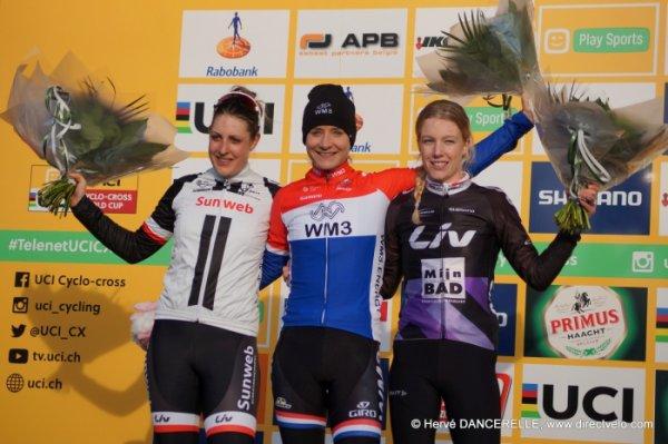Lars van der Haar et Marianne Vos remportent la 8 ème et dernière manche de la Coupe du Monde de Cyclo-Cross, à Hoogerheide, aux Pays-Bas !...