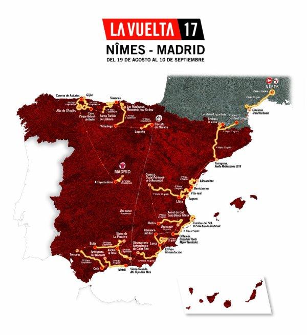 Le 72 ème Tour d'Espagne part, aujourd'hui !...