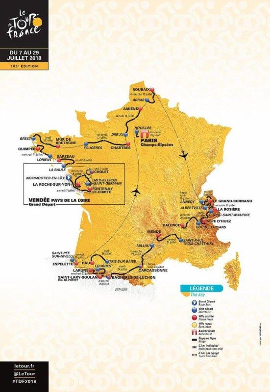 Le 105 ème Tour de France a été dévoilé le mardi 17 octobre 2017, au Palais des Congrès, à Paris !...