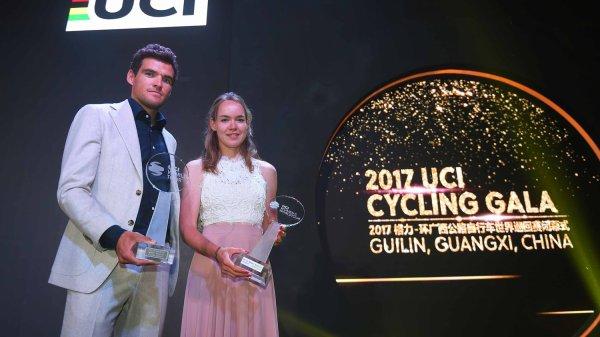 Le belge, Greg Van Avermaet et à la néerlandaise, Anna van der Bregen, recompensés à l'« UCI Cycling Gala », à Guilin, Guangxi, en Chine !...