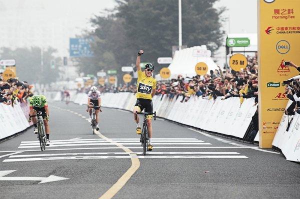 Christopher Froome remporte le 1 er « Tour de France Skoda Shanghai Critérium », de Shanghai, en Chine !...