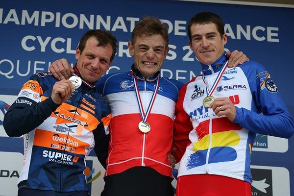 Championnats de France de Cyclo-Cross, à Quelneuc, dans le département du Morbihan, en région Bretagne !...