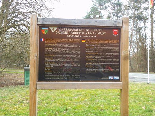Images du Haut-Rhin : Le « Chemin de Mémoire des Combats de la Hardt », « Carrefour de Grünhütte » nommé « Carrefour de la Mort » !...