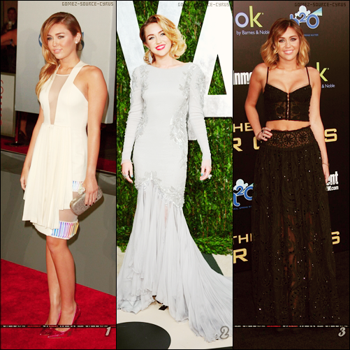 En attente des news.. Voici les apparitions 2012 de Miley.