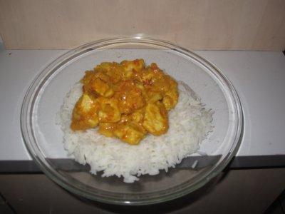 Curry de poulet minute