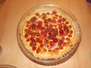 Tarte tomates cerises mozzarella