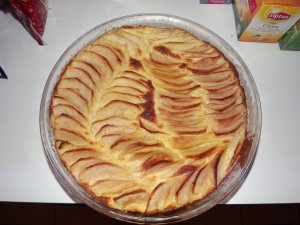Gâteau aux pommes de terre et aux pommes