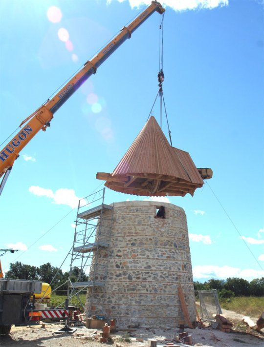 Restauration d'un moulin à vent