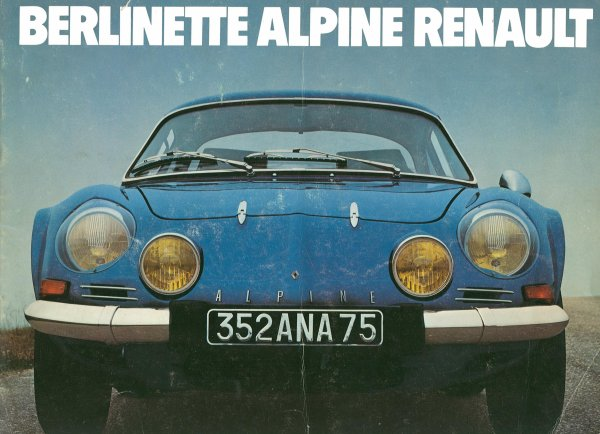 Le catalogue de l'ALPINE A110