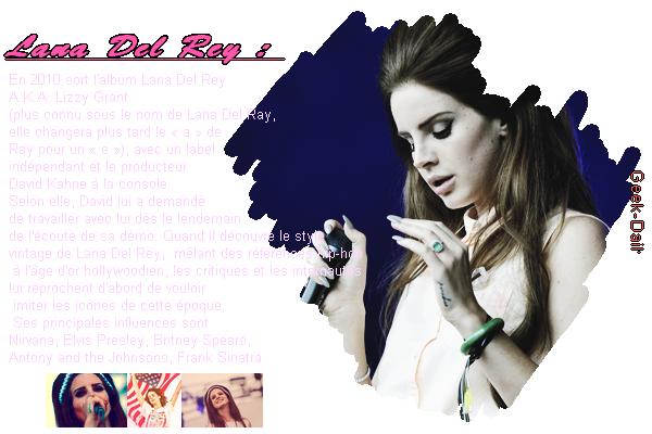 Catégorie musique : ♥ - Lana Del rey.