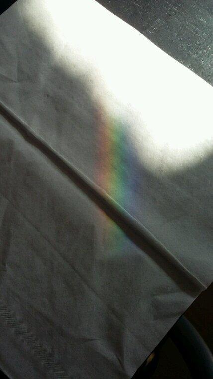 Un arc en ciel sur ma table