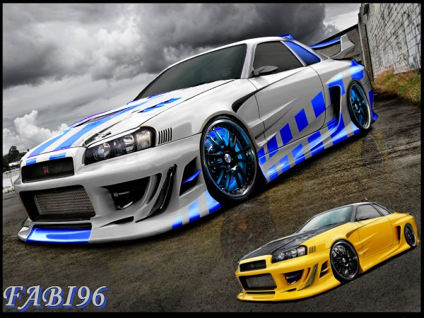Nissan skyline r34 fast and furious 2 version fab design - Virtual diva fast and furious 4 ...