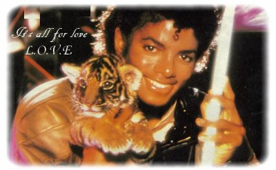 # We L.O.V.E You Michael ; It's all for love ; L.O.V.E. •