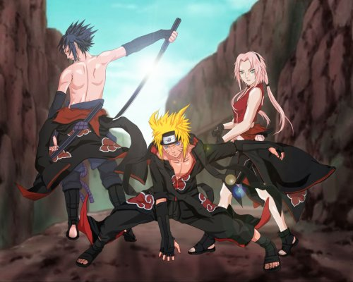 La team 7 en mode Akatsuki !