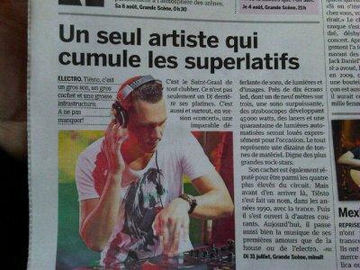 Tiësto dans un journal français