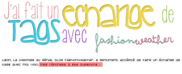 Echange de Tags avec FASHIONweather.