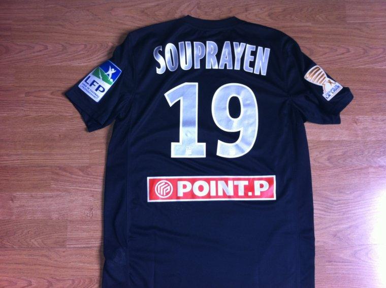 Maillot porté par Samuel Souprayen en Coupe de la Ligue  DFCO Dijon 2012/2013
