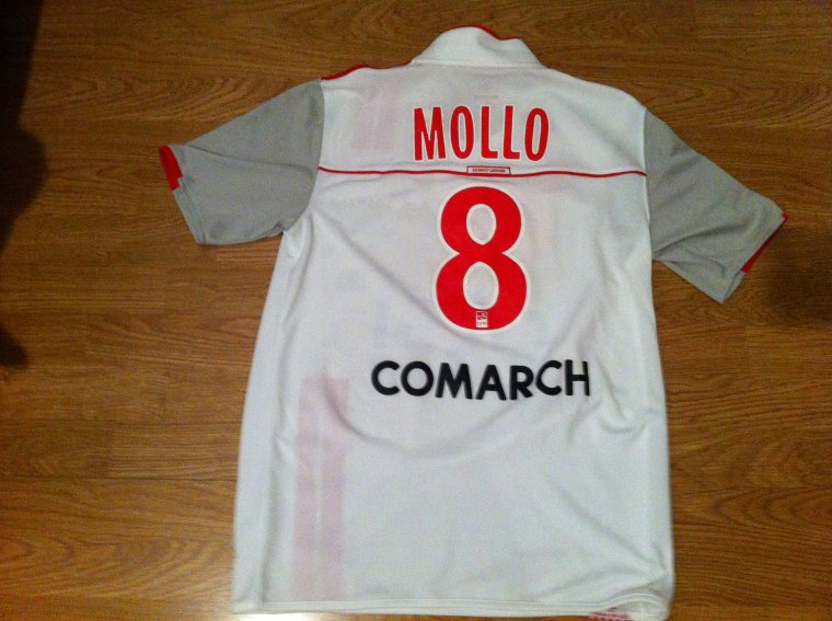Maillot porté par Yohan Mollo en Ligue 1 AS Nancy Lorraine 2011/2012