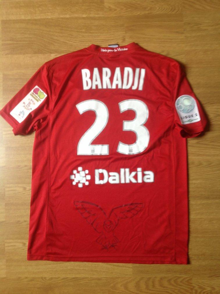 Maillot porté par Sekou Baradji en  Ligue 2 DFCO Dijon 2012/2013