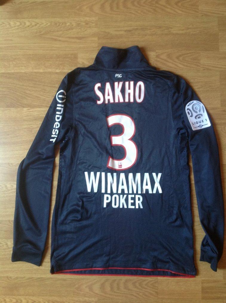 Maillot porté par Mamadou Sakho en Ligue 1 Paris-Saint-Germain  2010/2011