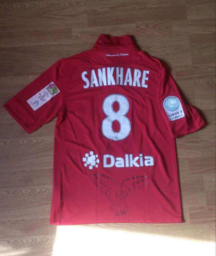 Maillot porté par Younousse Sankhare en Ligue 2 DFCO Dijon 2012/2013
