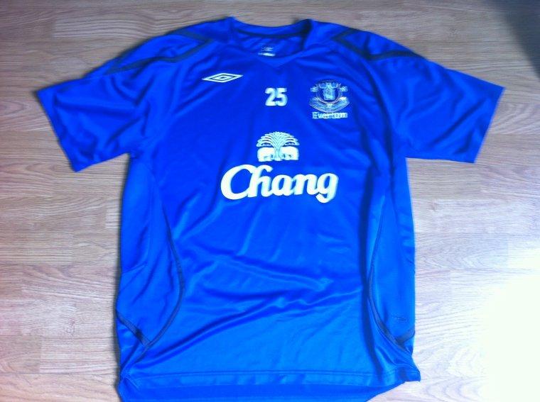 Maillot Entrainement porté par Marouane Fellaini  Everton FC