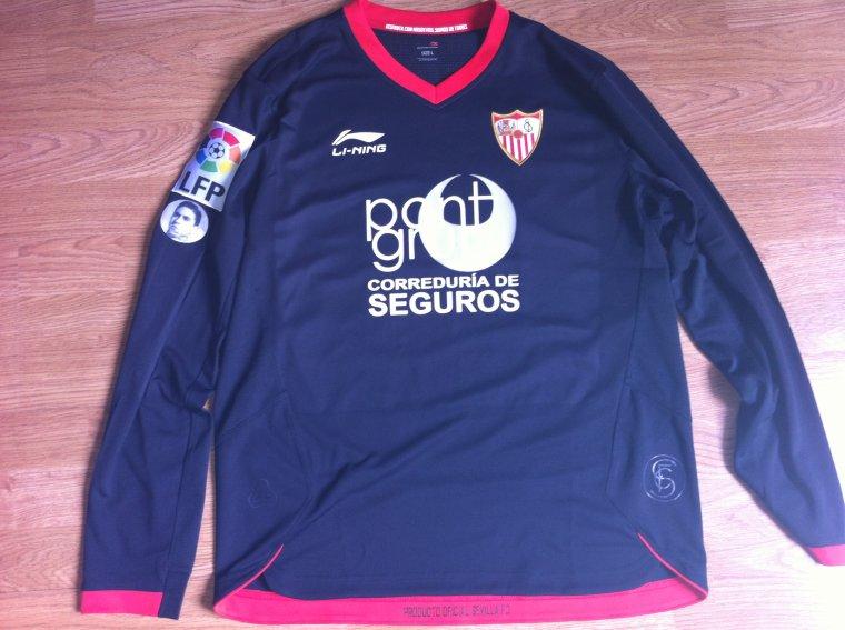 Maillot porté par Alvaro Negredo en Liga FC Seville 2011/2012
