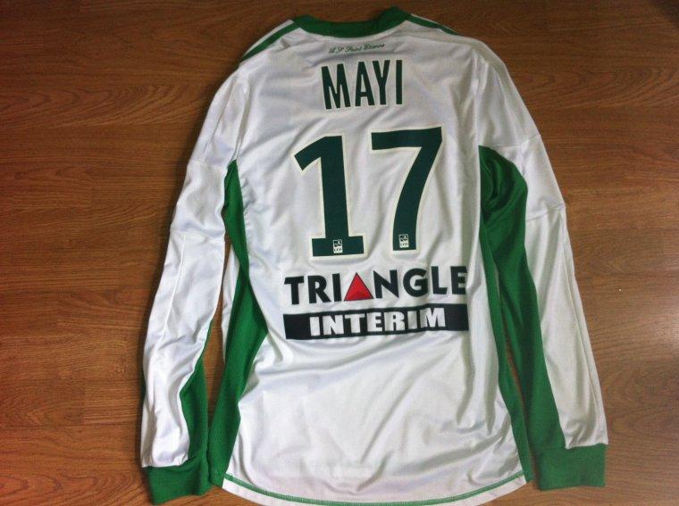 Maillot porté par Kevin Mayi en Ligue 1 AS Saint-Etienne 2012/2013