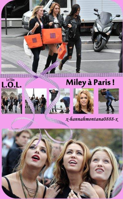Miley Cyrus à Paris en tournage pour le film L.O.L.
