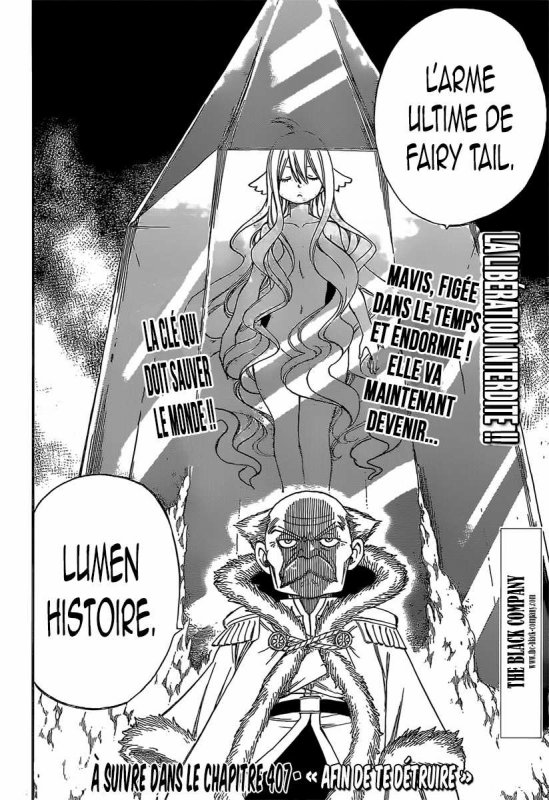 Scan 406 fairy tail. attention Enorme spoil !