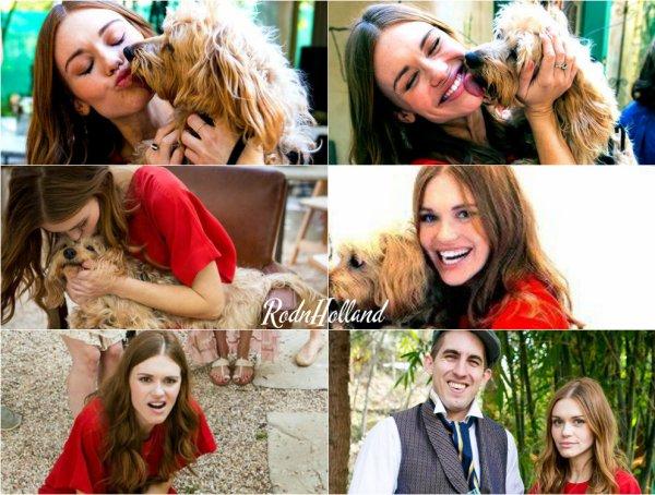 17.02.16 - Holland était a la Bridal Shower de Mahaley Patel a Toping Canyon.    Holland était en compagnie de son chien Fievel. Elle a posée, toute mignonne, sur énormément de photos. C'est un Top pour sa tenue. Des avis ?