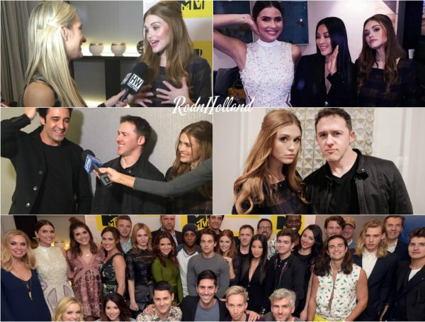 18.02.16 - Holland et ses co-stars de Teen Wolf étaient réunis a l'événement MTV Press Junket & Cocktail Party.    Arden Cho, Shelley Hennig, Dylan Sprayberry, Khylin Rhambo, Jeff Davis et d'autres cast étaient également présents. Top/Flop ?