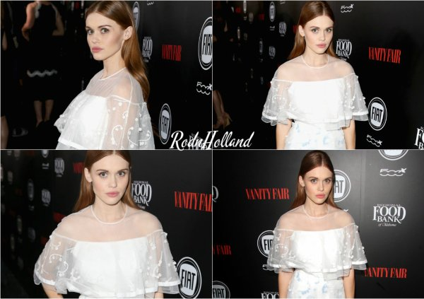23.02.16 - Holland Roden a arboré le Red Carpet des Vanity Fair & FIAT Young Hollywood Celebration, a Los Angeles.    L'actrice était habillée tout en blanc. Je lui accorde un raisonnable Top. Et vous ?