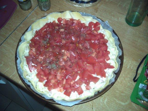Tarte à la tomate et aux oignons