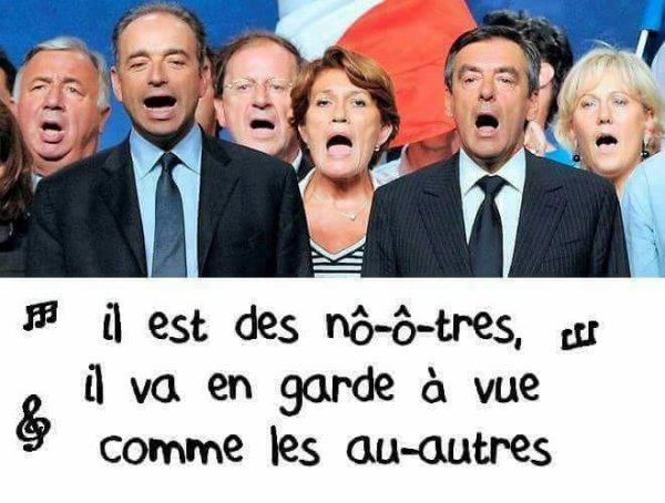 A propos de l'ex president Sarkozy (une de nos tetes de bandits encravatées)