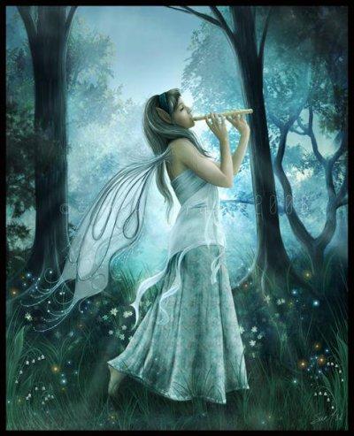 elf avec une flute