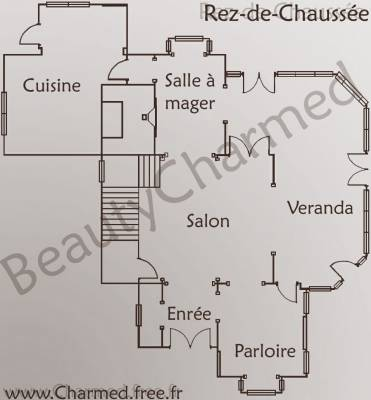 Le manoir plan un blog sur ma s rie pr f r charmed for Conception de plans de manoir
