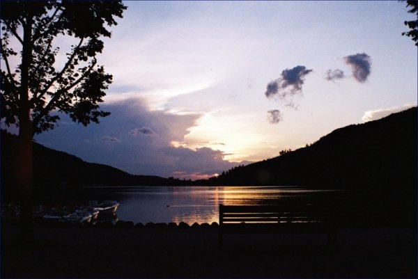 Lac de Gérardmer un soir d'août 2012.