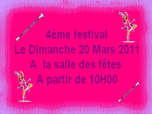 ORGANISATION DE NOTRE 4ÉME FESTIVAL