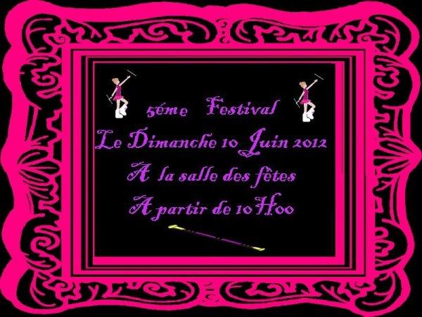 ORGANISATION DE NOTRE 5ÉME FESTIVAL