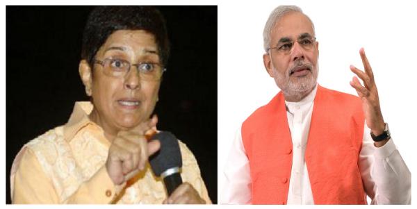 Kiran Bedi To Vote For Narendra Modi in The Next PM Elections