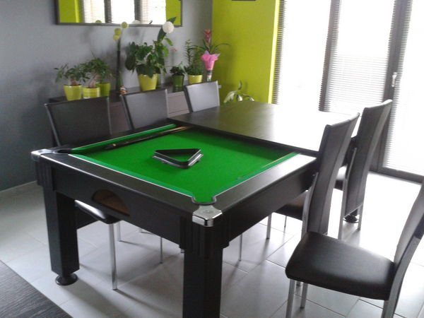 bonne affaire petit prix table de billard convertible en table de salle manger les bons. Black Bedroom Furniture Sets. Home Design Ideas