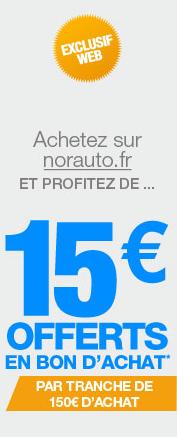 Norauto : profitez de 15 euros sur chaque achat de 150 euros