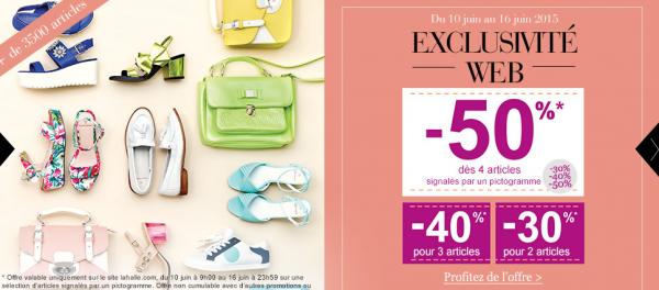 Chaussures : profitez des remises jusqu'à 50 % sur le site La Halle